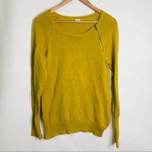 J. Crew mustard zip detail sweater